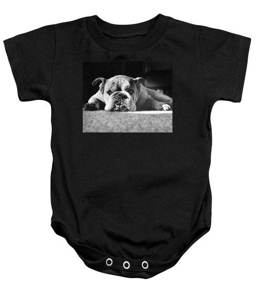 English Bulldog Baby Onesie