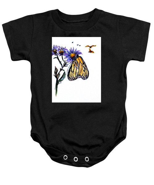 Erika's Butterfly One Baby Onesie