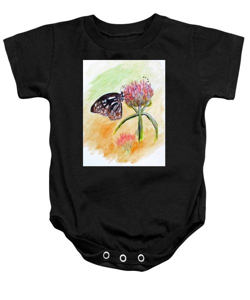Erika's Butterfly Two Baby Onesie