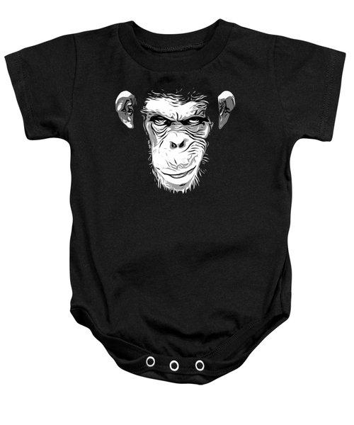 Evil Monkey Baby Onesie by Nicklas Gustafsson