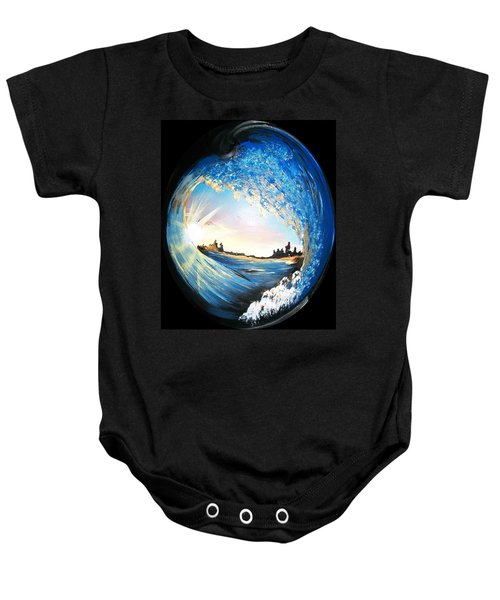 Eye Of The Wave Baby Onesie