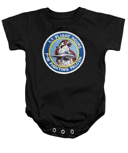F-16 Ride Patch Baby Onesie