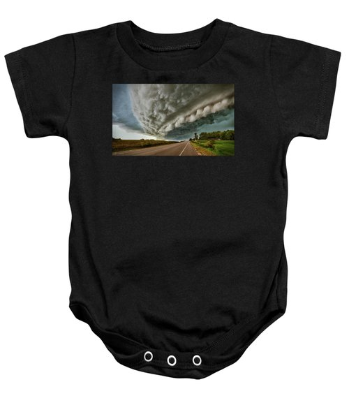 Face In The Storm Baby Onesie