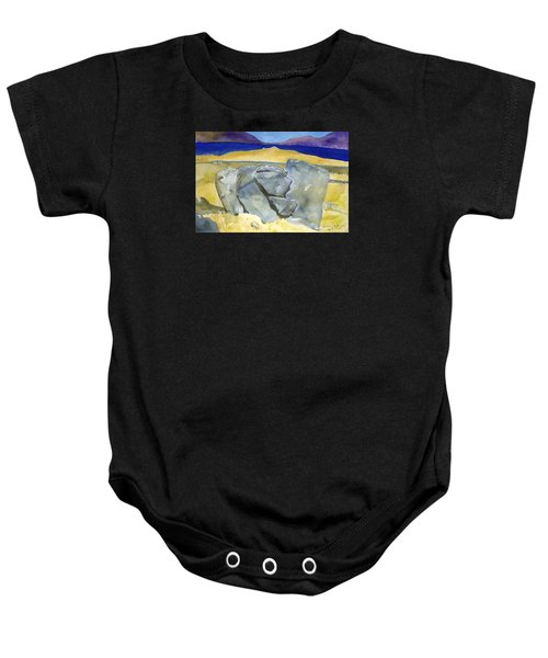 Faces Of The Rocks Baby Onesie