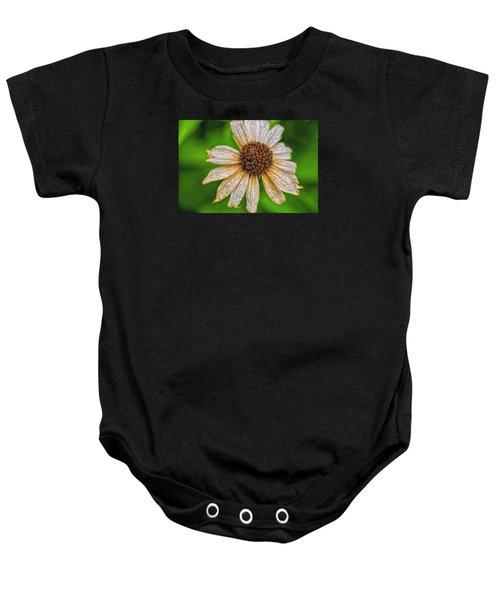 Faded Cone Flower Baby Onesie