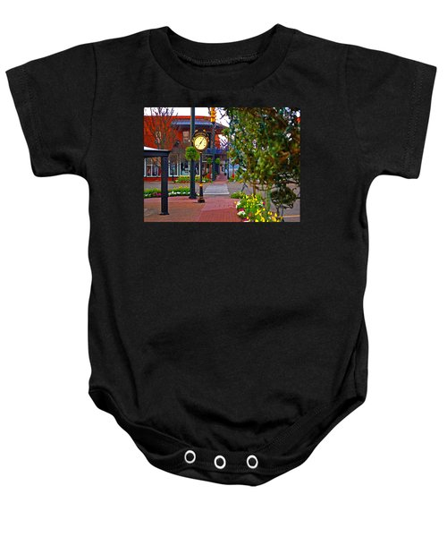 Fairhope Ave With Clock Down Section Street Baby Onesie