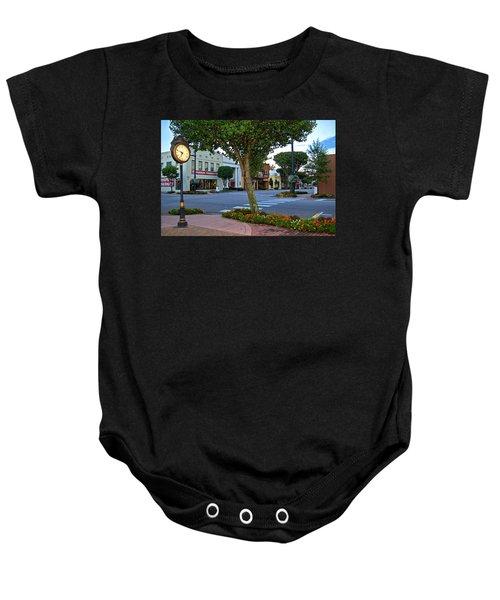 Fairhope Ave With Clock Baby Onesie