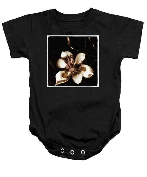 Baby Onesie featuring the photograph Fairy Iris. A Butterfly Landed On My by Mr Photojimsf