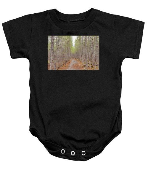 Fall Aspen Trail  Baby Onesie