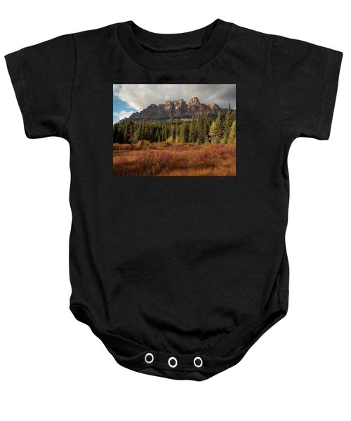 Fall At Castle Mountain Baby Onesie
