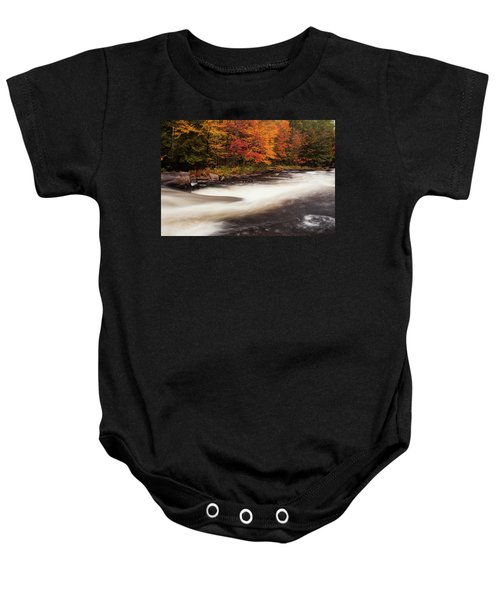 Fall At Oxtongue Rapids Baby Onesie