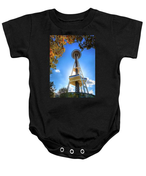 Fall Day At The Space Needle Baby Onesie