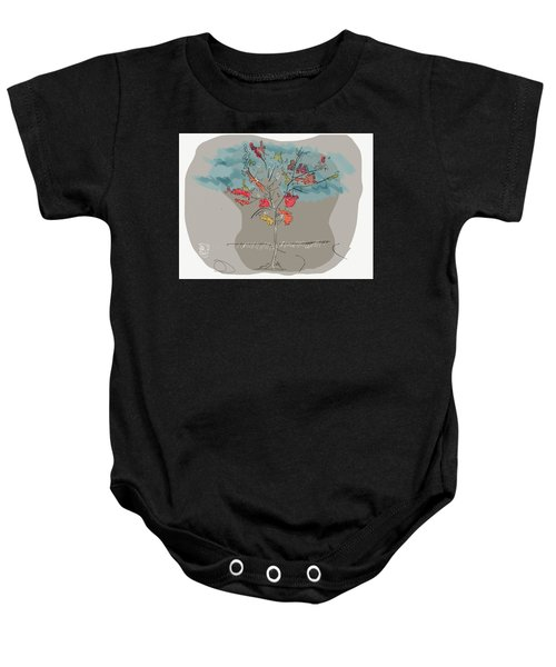 Fall To Peaces Baby Onesie