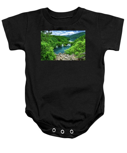 Falls From Above - Plitvice Lakes National Park, Croatia Baby Onesie