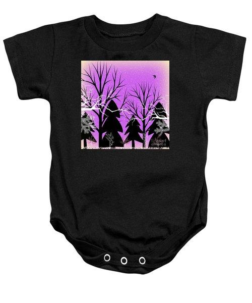 Fantasy Forest Baby Onesie