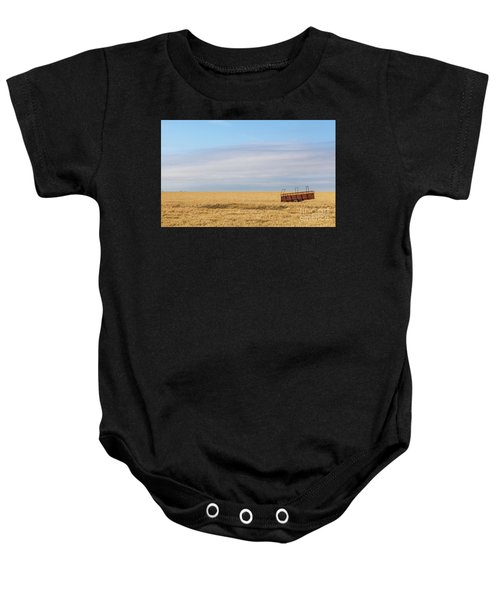 Farm Trailer In The Middle Of Field Baby Onesie