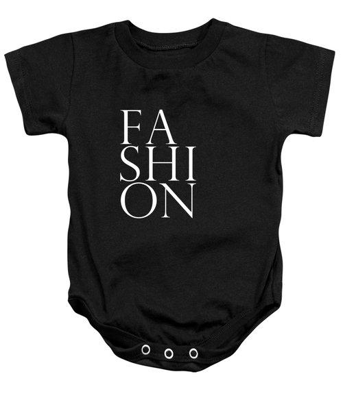 Fashion - Typography Minimalist Print - Black And White Baby Onesie
