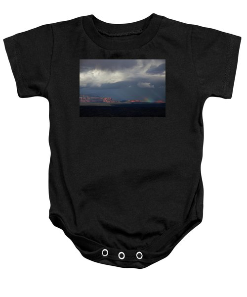Fat Ground Rainbow, Red Rocks Sedona Baby Onesie