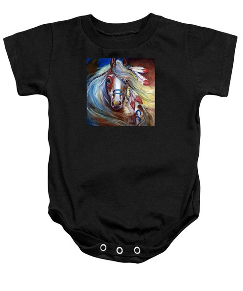 Fearless Indian War Horse Baby Onesie