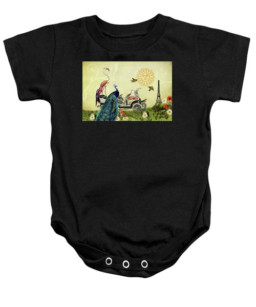 Feathered Friends In Paris, France Baby Onesie