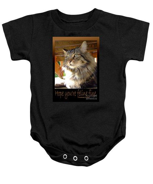 Feline Fine Baby Onesie