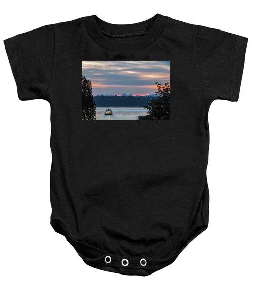Ferry Tillikum At Dawn Baby Onesie