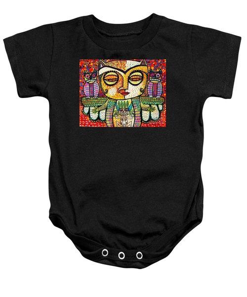 Fertility Totem Owl Goddess Baby Onesie