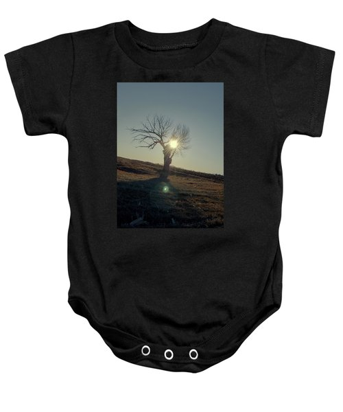 Field And Tree Baby Onesie