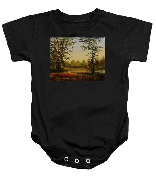 Fields And Trees Baby Onesie