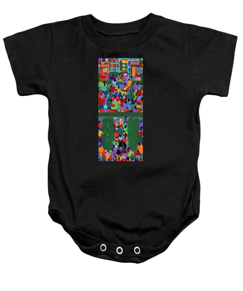 We The People Diptych Baby Onesie