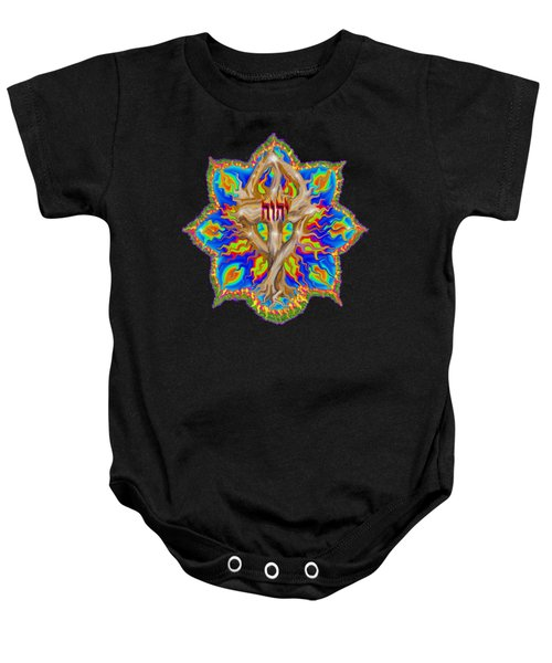 Fire Tree With Yhwh Baby Onesie