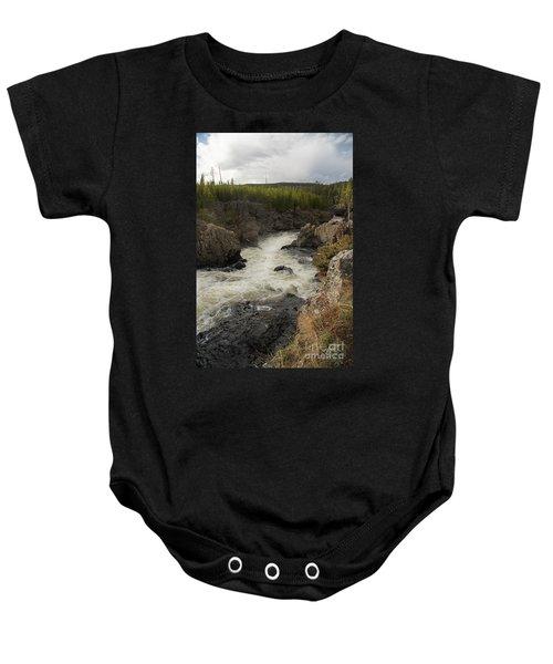 Firehole River Cascade Baby Onesie