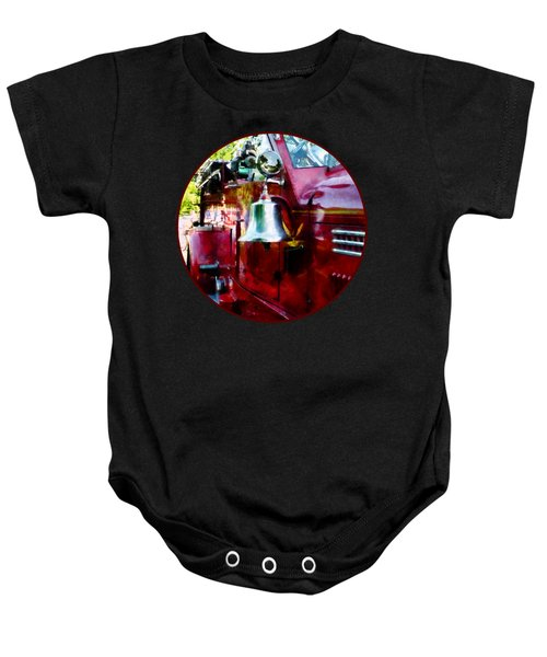 Fireman - Bell On Fire Engine Baby Onesie