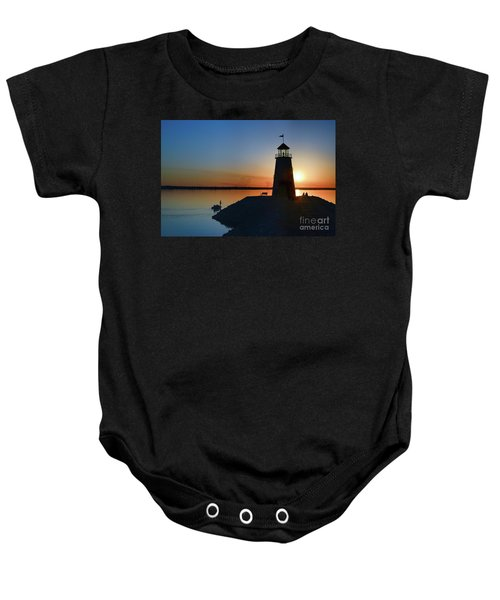 Fishing At The Lighthouse Baby Onesie