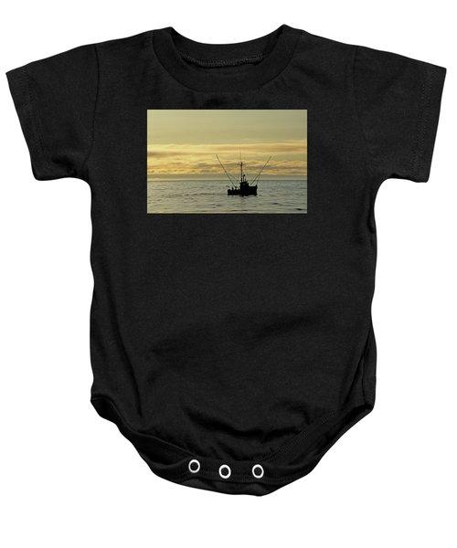 Fishing Off Santa Cruz Baby Onesie