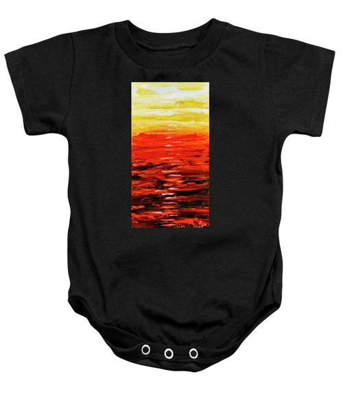 Flaming Sunset Abstract 205173 Baby Onesie