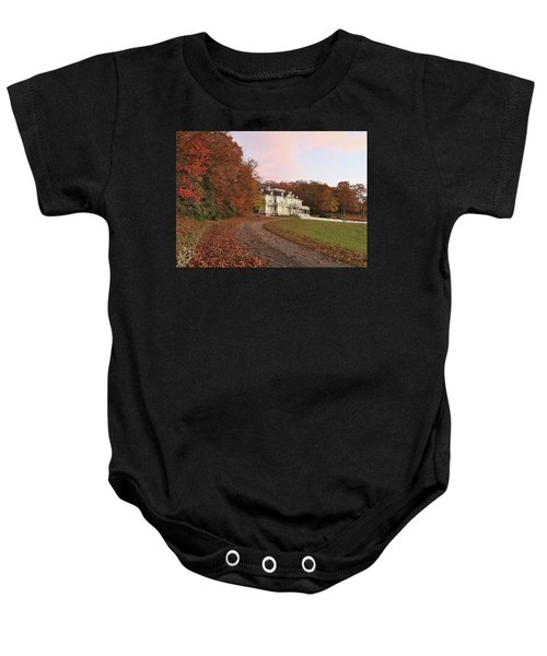 Flat Top Manor At Sunrise Baby Onesie