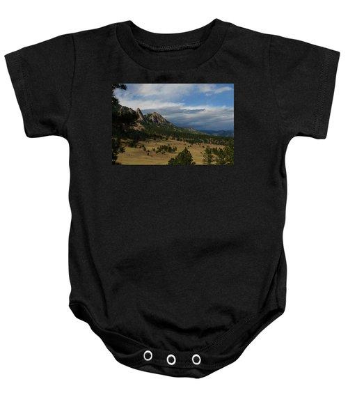 Flatirons, Boulder, Colorado Baby Onesie