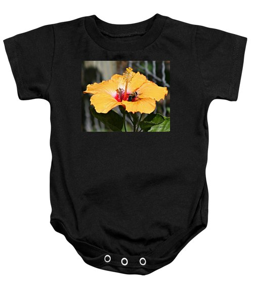 Flower Bee Baby Onesie