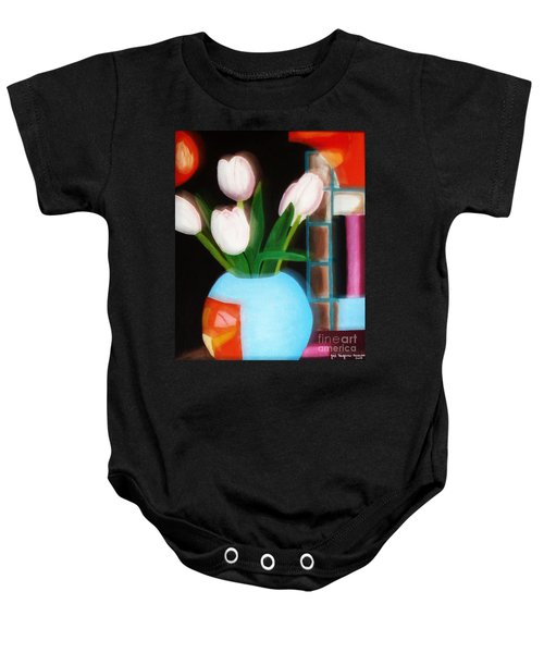 Flower Decor Baby Onesie