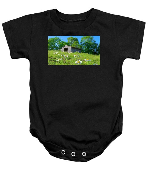 Flowering Hillside Meadow Baby Onesie