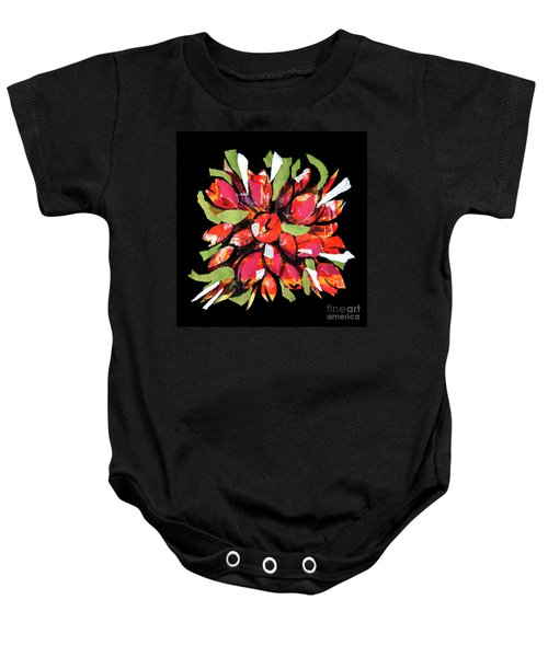 Flowers, Art Collage Baby Onesie