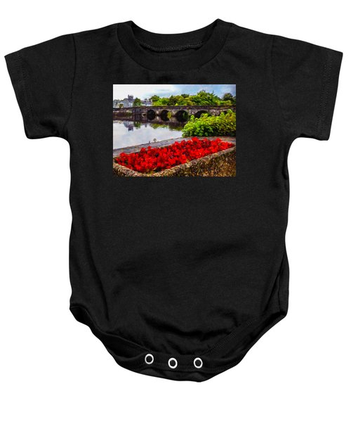 Baby Onesie featuring the photograph Flowers At Roosky by James Truett