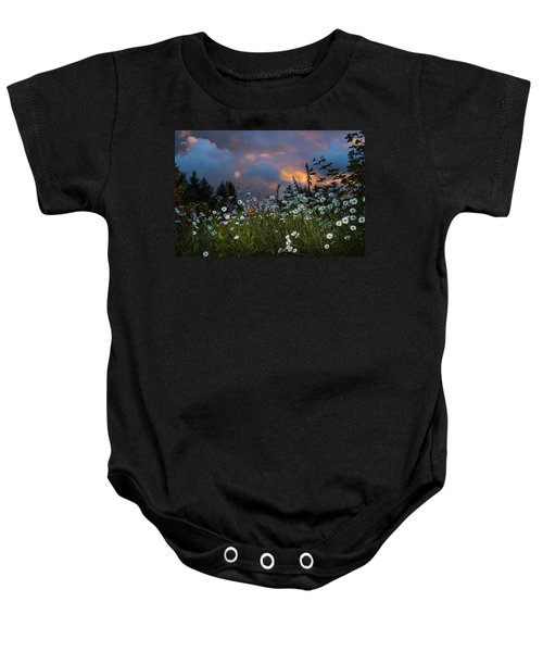 Flowers At Sunset Baby Onesie