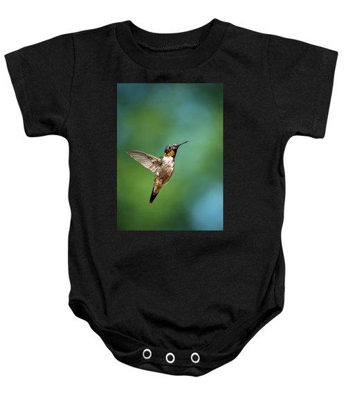 Flying Hummingbird Baby Onesie