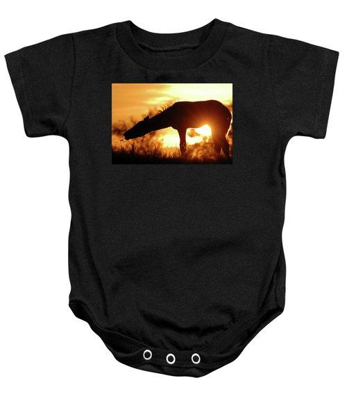 Foal Silhouette Baby Onesie