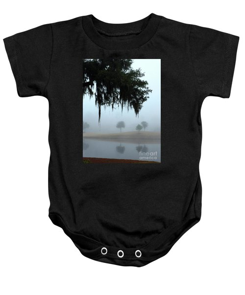 Foggy Morn Reflections Baby Onesie