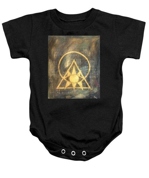 Follow The Light - Illuminati And Binary Baby Onesie