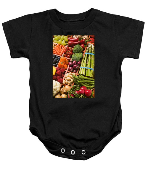 Food Compartments  Baby Onesie by Garry Gay