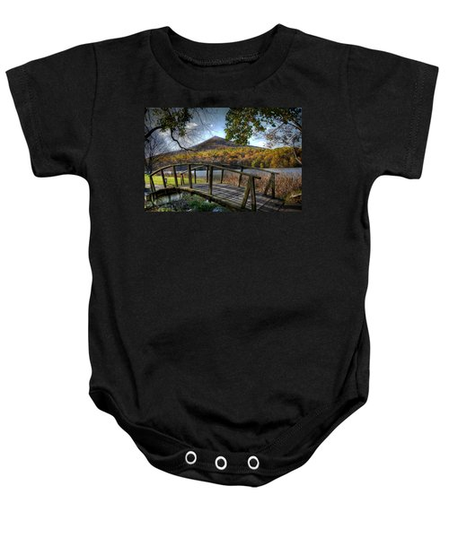 Foot Bridge Baby Onesie by Todd Hostetter